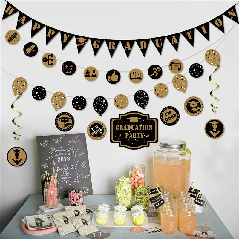 Happy Graduation Banner Garland Bunting Banner Party Decoration/graduation  balloon/Graduation Banner/Graduation Party