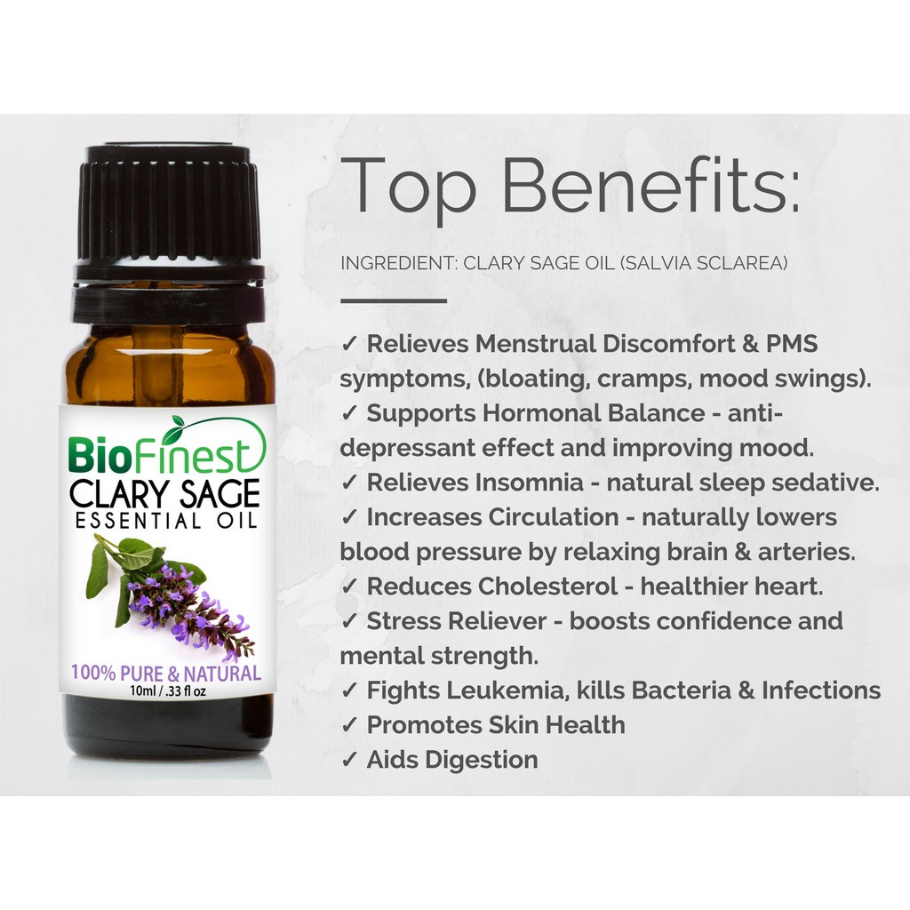 BioFinest Clary Sage Oil Pure Clary Sage Essential Oil 100ml