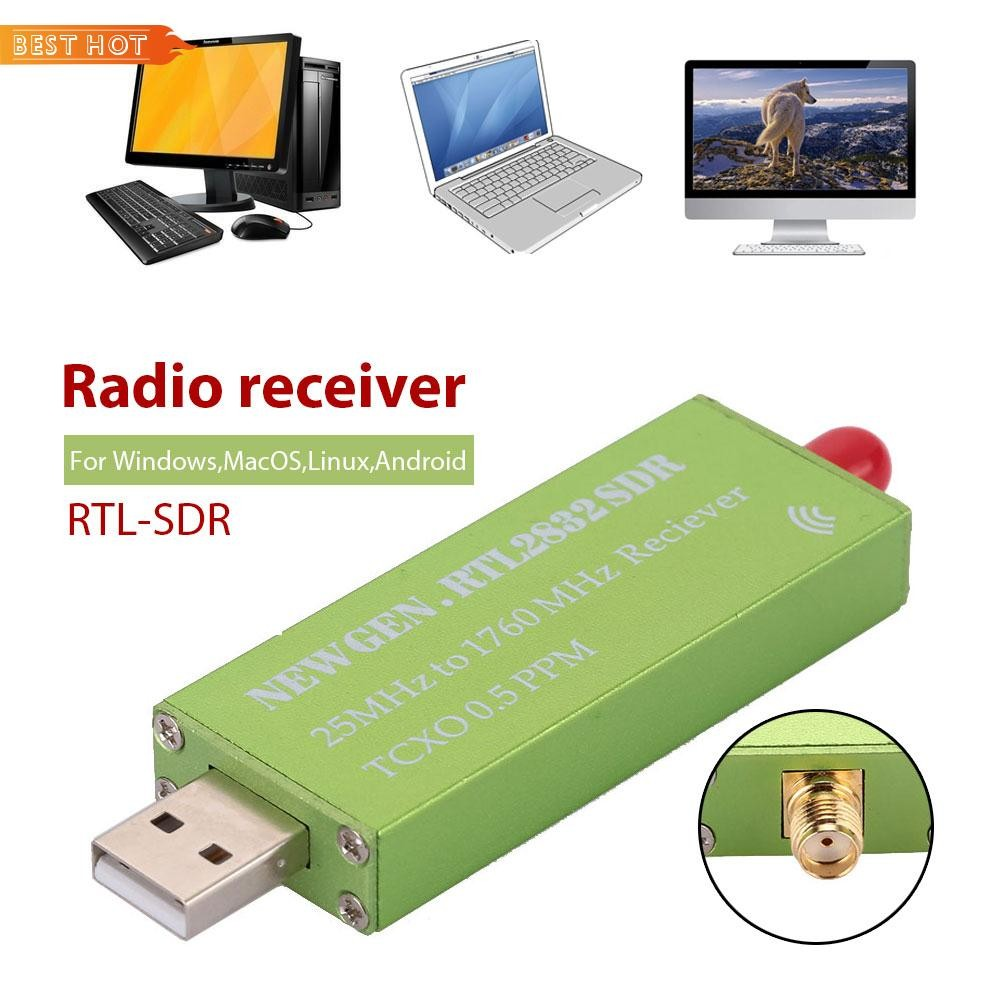 BES Radio Receiver RTL-SDR Receiver Portable Aluminum Shell USB SMA F PPM  TCXO