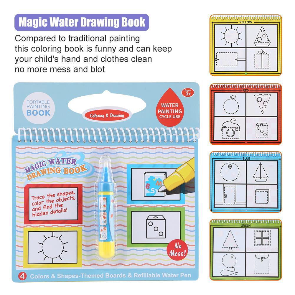 Portable Children Magic Coloring Water Coloring Book Toys