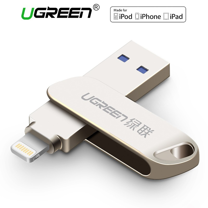 Ugreen USB 3.0 Flash Drive for iPhone 32 64GB Lightning to Metal PenDrive U Disk   Shopee Singapore