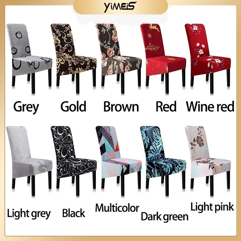 Thin black Chair cover Durable Elastic Fabric Meeting Stretch Seat Polyester