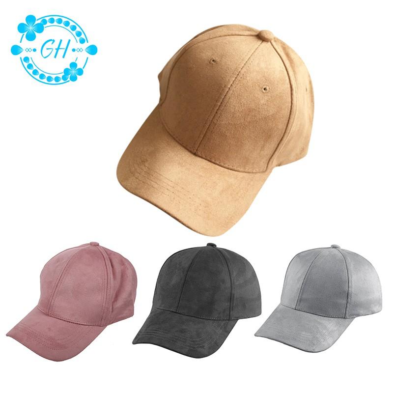 Adjustable Suede Baseball Cap Snapback Visor Sport Sun Unisex Men Women Hat