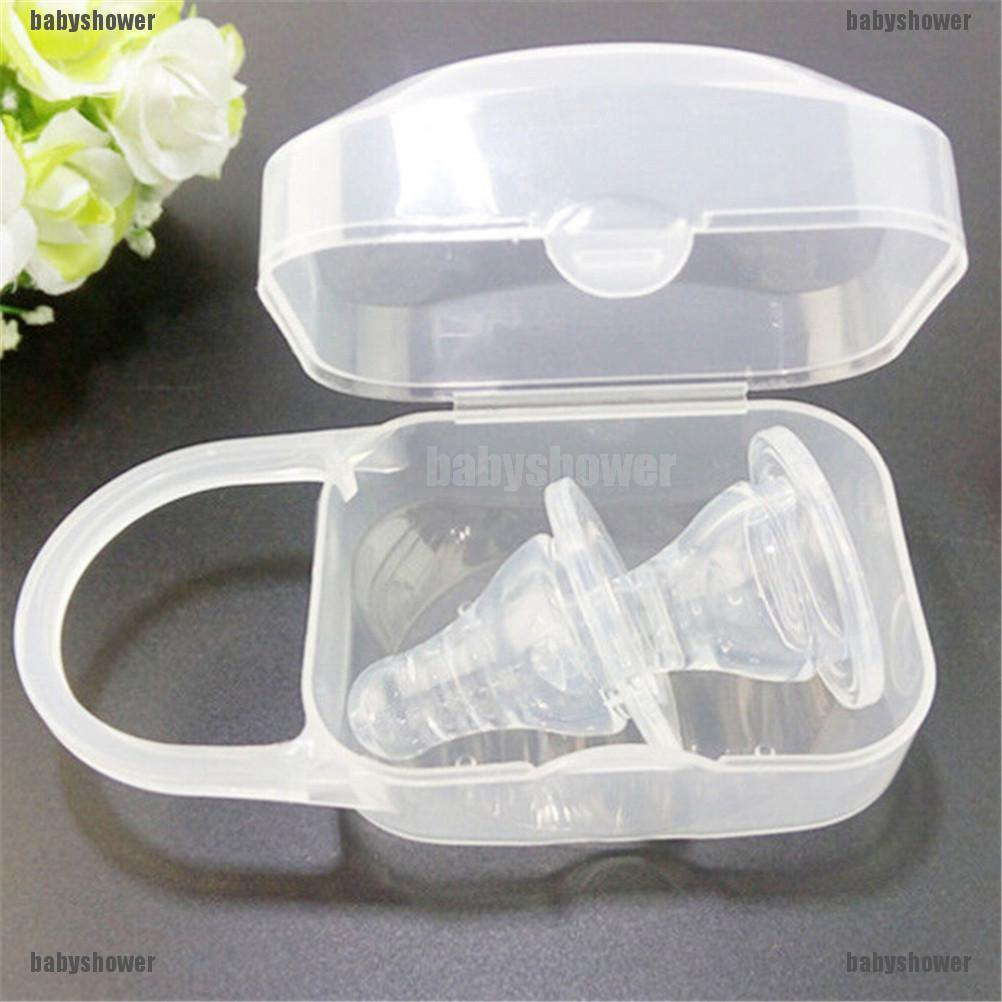 3PC Plastic Baby Infant Travel Soother Pacifier Dummy Portable Storage Case Box