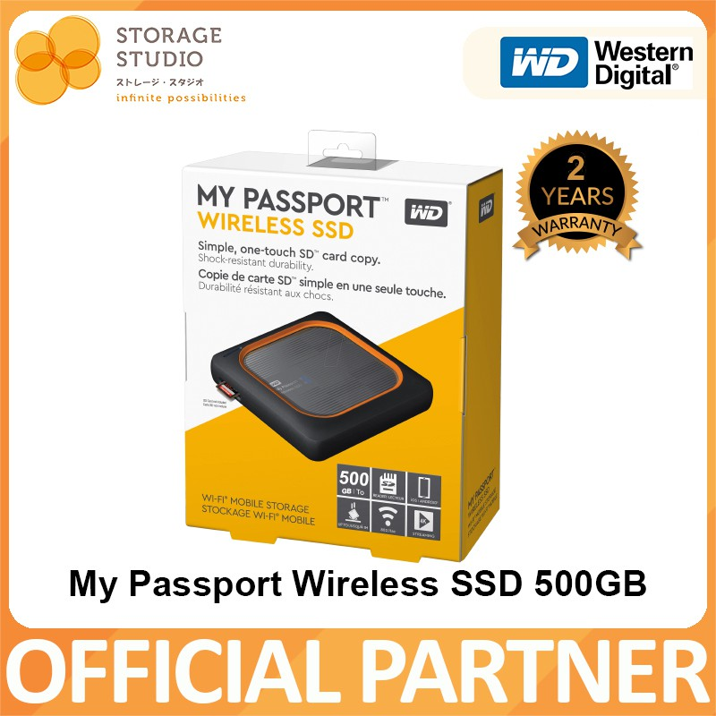 WD My Passport Wireless SSD WI-FI Mobile Storage 2TB/1TB/500GB  Local  Singapore Warranty 2 Years **WD OFFICIAL PARTNER**