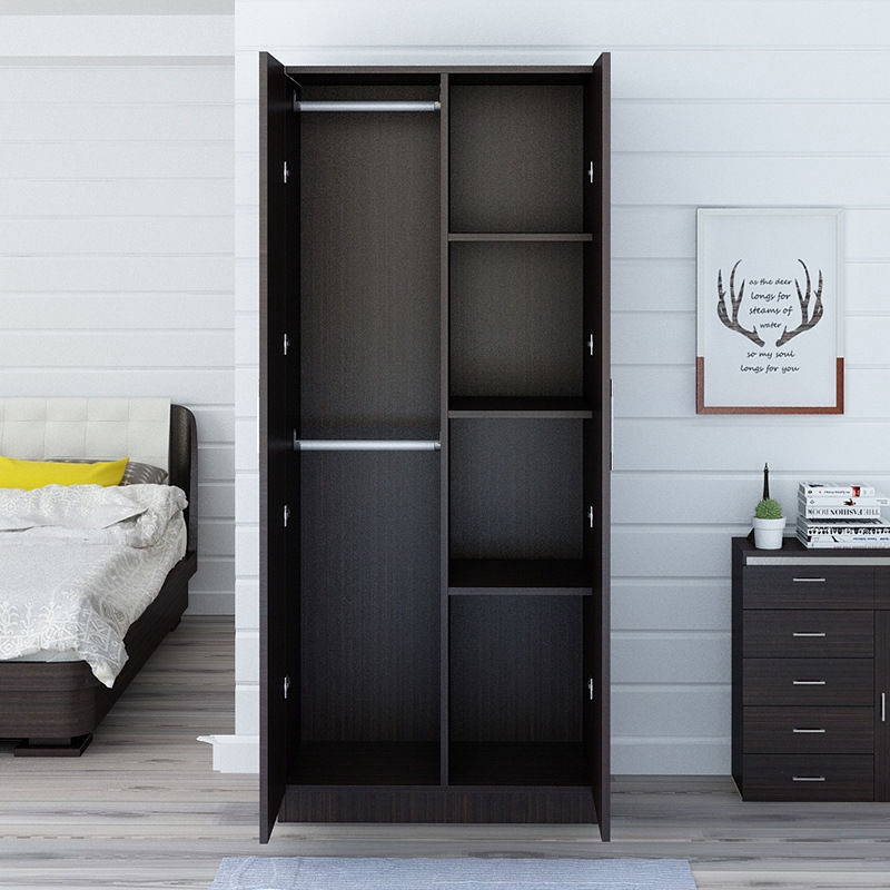 Wooden Stylish Wardrobe Atmospheric Bedroom Black Walnut ...