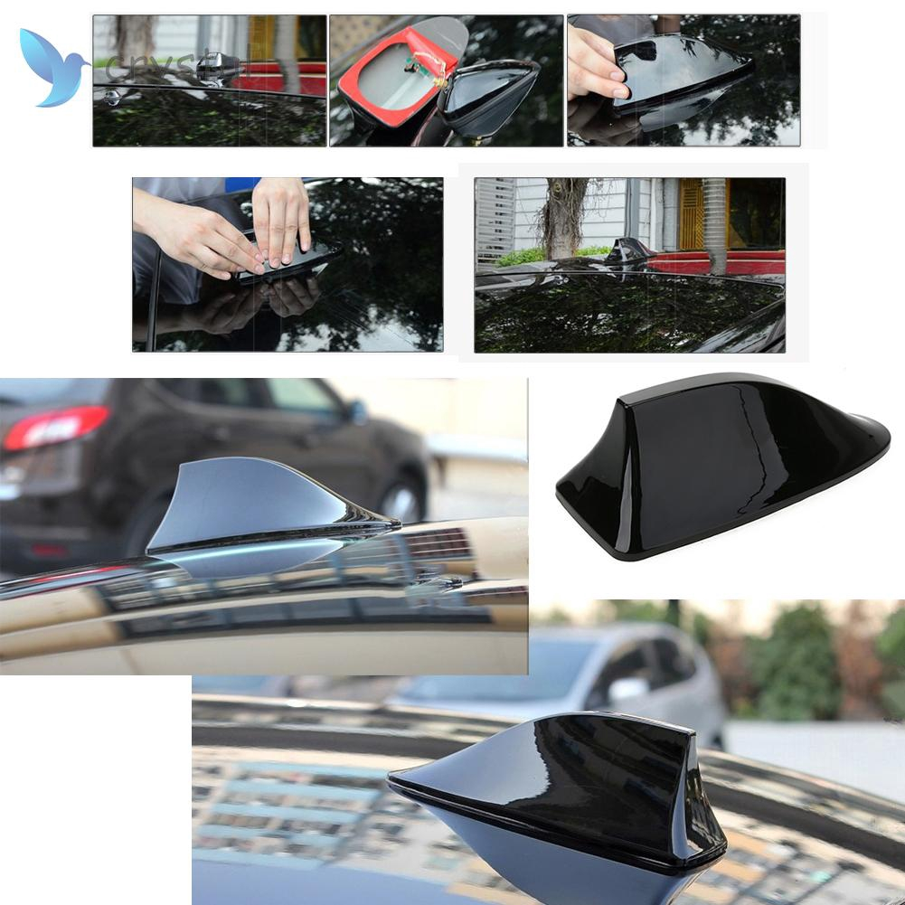 New Auto Car Shark Fin Universal Roof Antenna Radio FM//AM Decorate Aerial Muti
