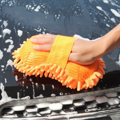 Ahomi Car Wash Cleaning Gloves Wool Car Cleaning Polishing Gloves Household Cleaning Duster Brush Scrubber