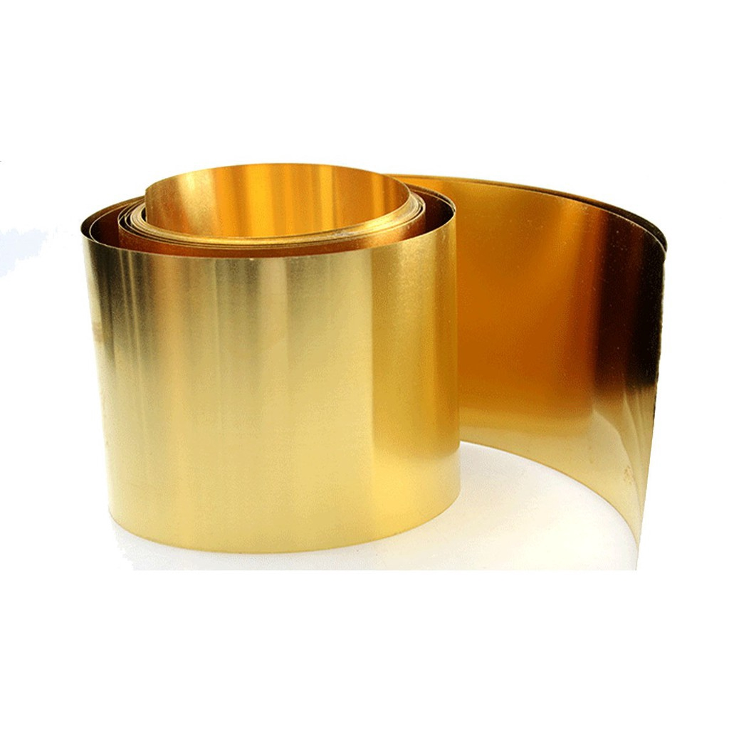 1 Piece Brass Metal Thin Sheet Foil 0.08 x 200 x 500mm 8 inches x 20 inches
