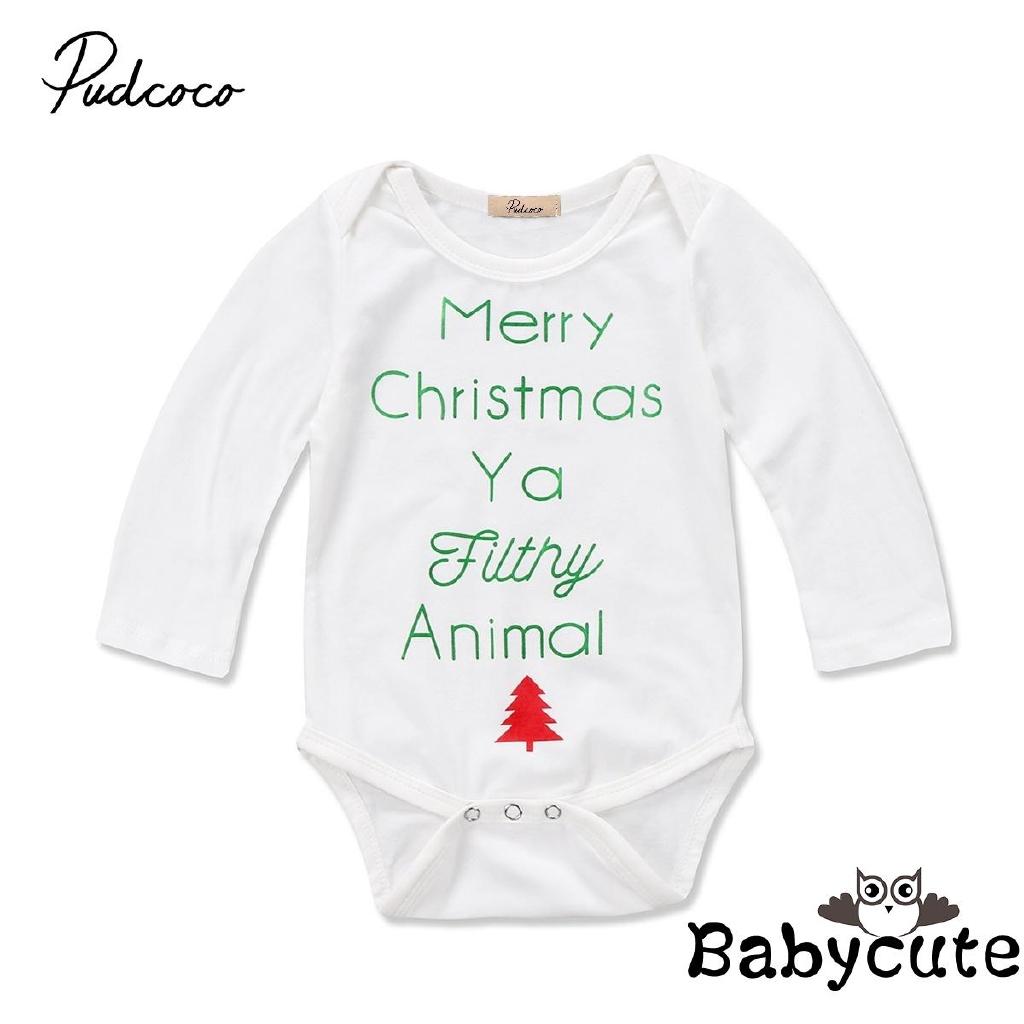Merry Christmas Ya Filthy Animal Childrens Long Sleeve T-Shirt for Boys Girls