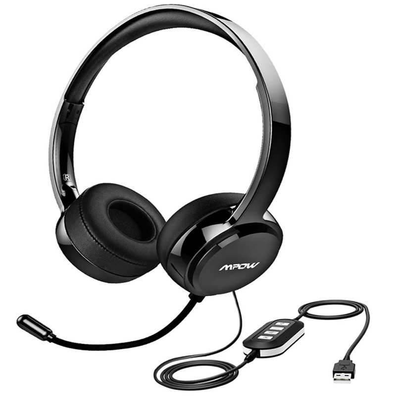 Mpow 071 Computer Usb Headset With Mic Noise Cancelling Pc Headphone Ready Stock Shopee Singapore