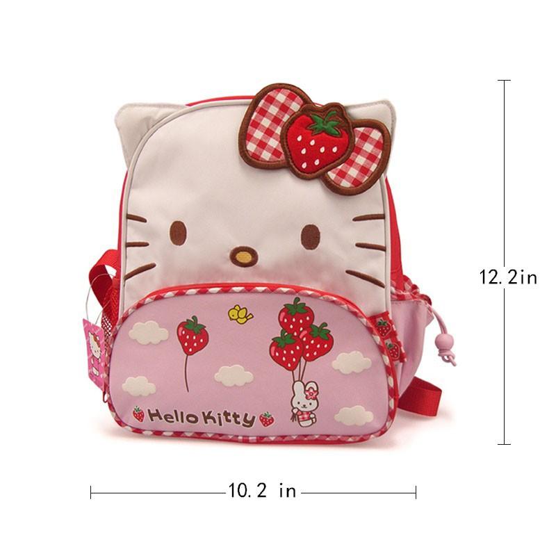 ed9a3ad0fbc0 Kawaii Hello Kitty chararter Kids backpack beg Pink Strawberry for Little  girl