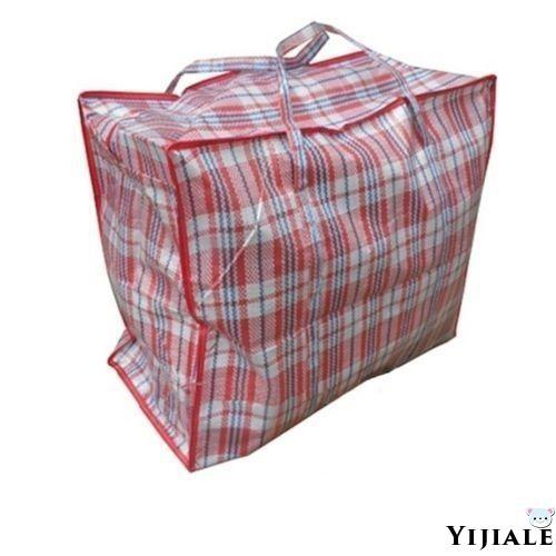 RE-USABLE CHECKERED PATTERN LAUNDRY BAG FOR LIFE ASSORTED MEDIUM LARGE JUMBO