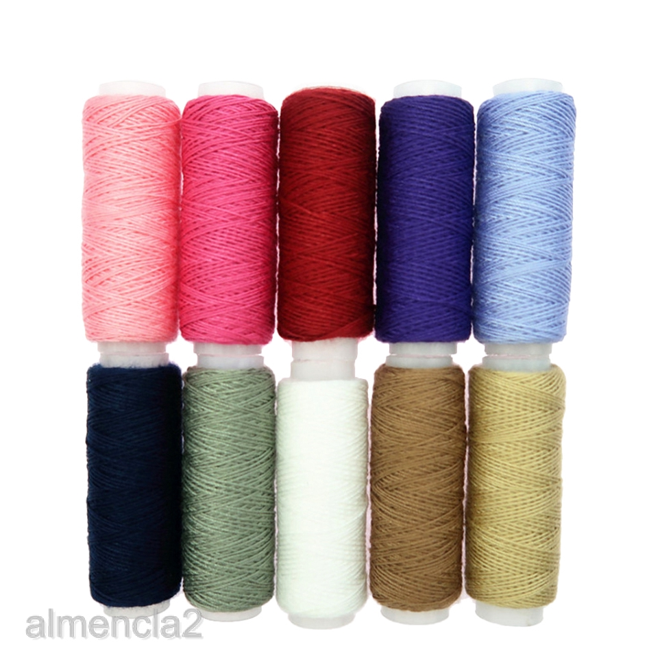 10Pcs Polyester Threads Spools for Sewing Embroidery Quilting Threads
