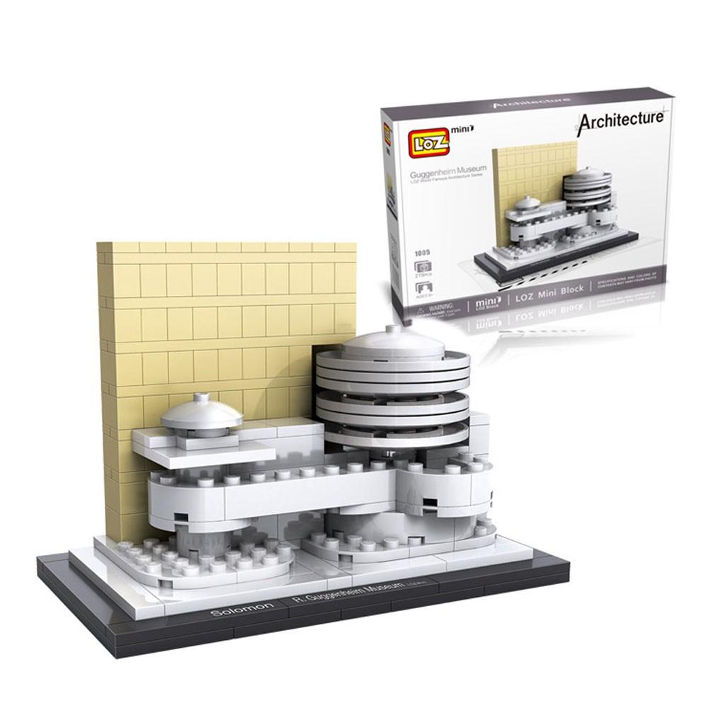 Loz Guggenheim Museum World Famous Architecture Series Building 9387 Nano Blocks Statue Of Liberty 1005 Shopee Singapore