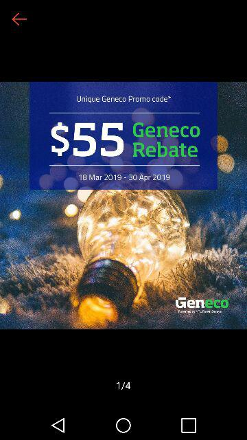 Geneco SGD55 Off Electricity Bill - For New Sign Ups Only