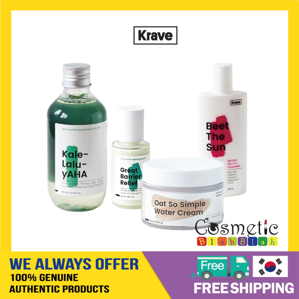 [KRAVE BEAUTY] Krave Best Collection / Oat So Simple Cream, Kale Lalu Yaha, Great Barrier