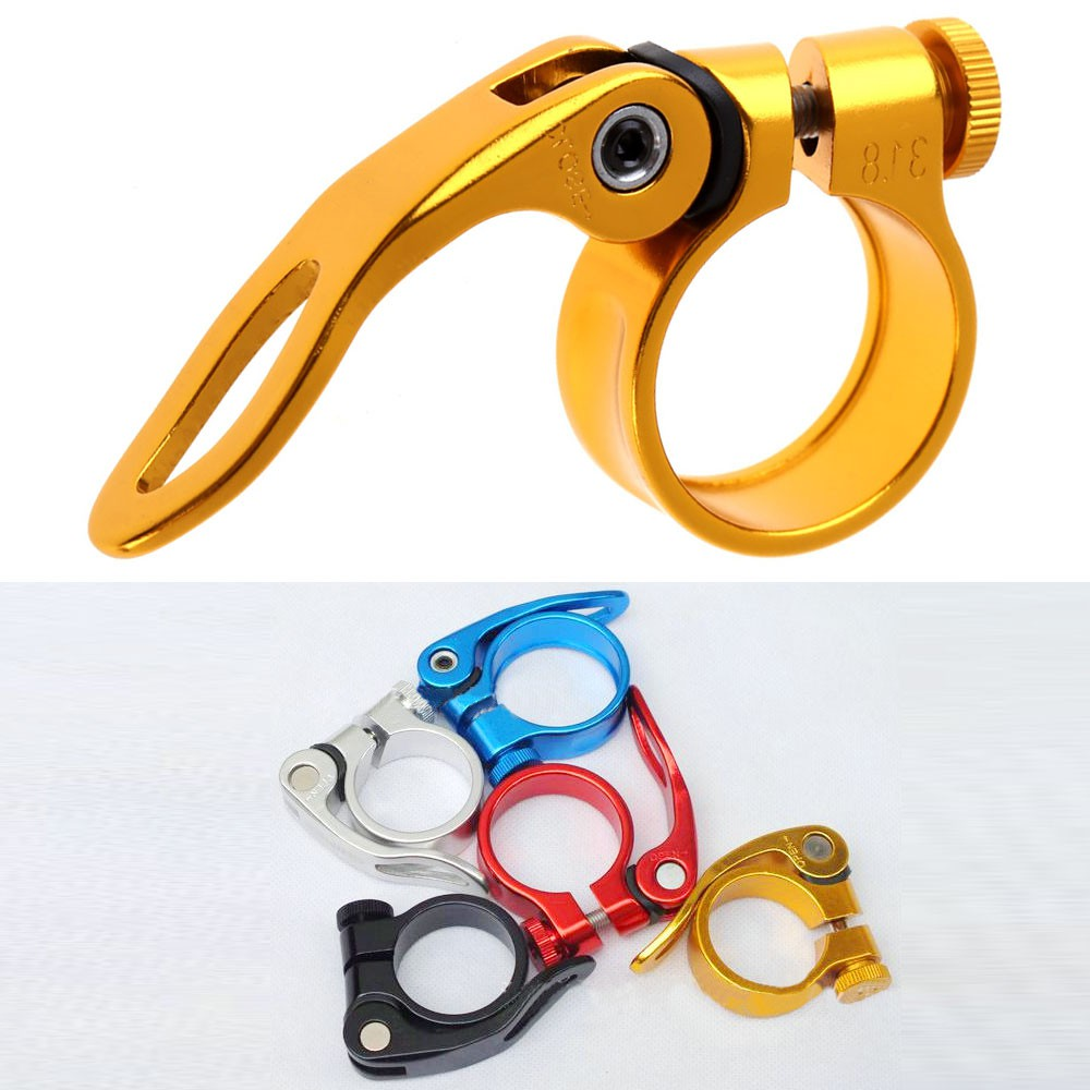 For MTB Bike Cycling Saddle Seat Post Clamp Quick Release QR Style 31.8mm