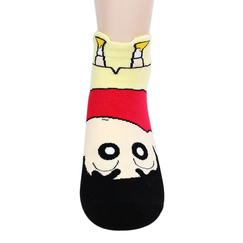 4 Pair Nowara Shnnosuke Crayon Shin Chan Girls Cartoon Funny Socks Low Cut Ankle