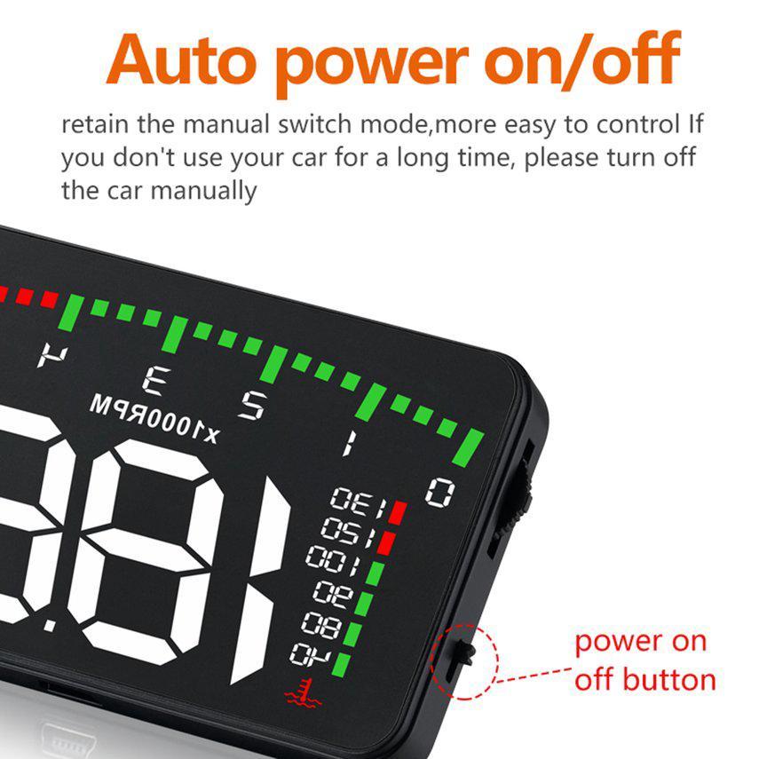 HD Head Up Display OBD2 Car Hud Car Vehicle Speedometer