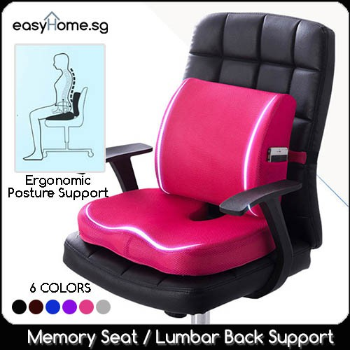 Memory Seat Cushion Lumbar Back