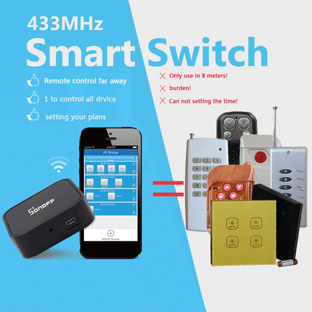 Smart Home RF Bridge 433MHz Remote DIY Timer Sonoff Smart Switch Wifi Remote