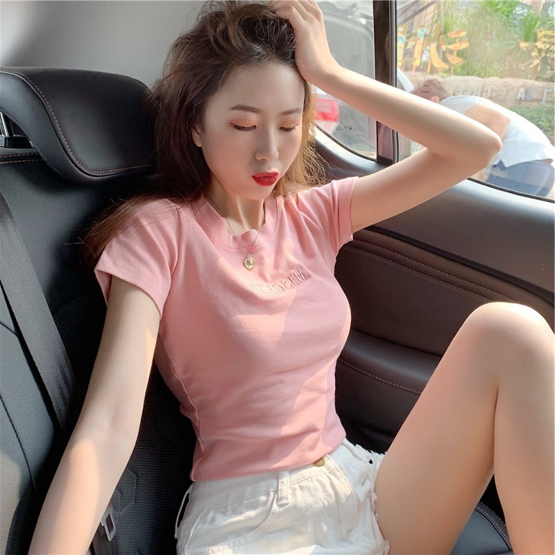 Fashion Embroidery Summer Female New Top 2020 Fit Korean Women For Letter Students Sleeve T Shirt Slim Short Shopee Singapore Popular korean women fit of good quality and at affordable prices you can buy on aliexpress. shopee