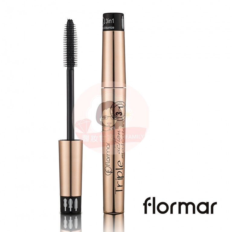 0b03ce692a5 French Flormar Maggie Slender Thick Curling 3in1 Mascara 8ml