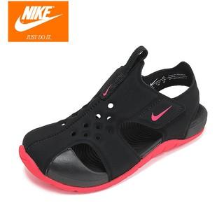 calidad primero sensación cómoda imágenes detalladas Nike Kids Sunray Protect 2 TD 943827-003 Black Pink Baby ...