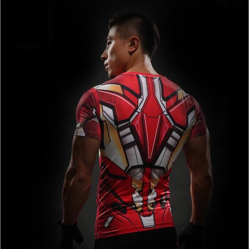 Iron Man T Shirt 3D Printed T-shirts Men Avengers iron man Civil War Tee  Cotton