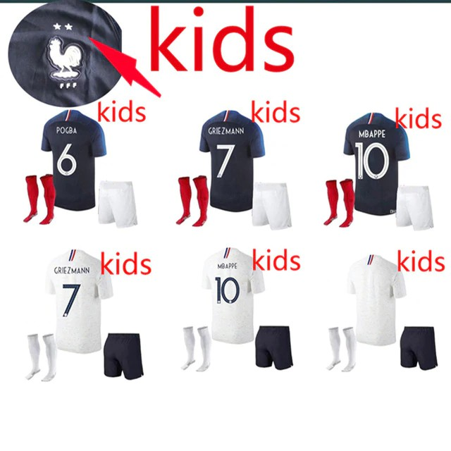 6be60ff2323 Halos 2 stars kids 2019 Franceing World Cup Soccer MBAPPE GRIEZMANN POGBA  18 19 | Shopee Singapore