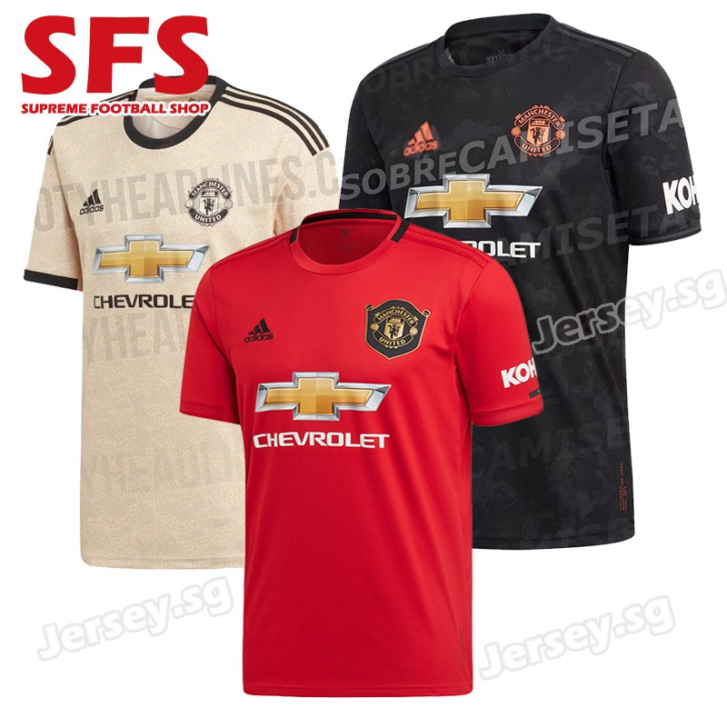 sports shoes 32a80 9ef99 Top Quality Manchester United Football Jersey Tshit Men Man UTED 19/20
