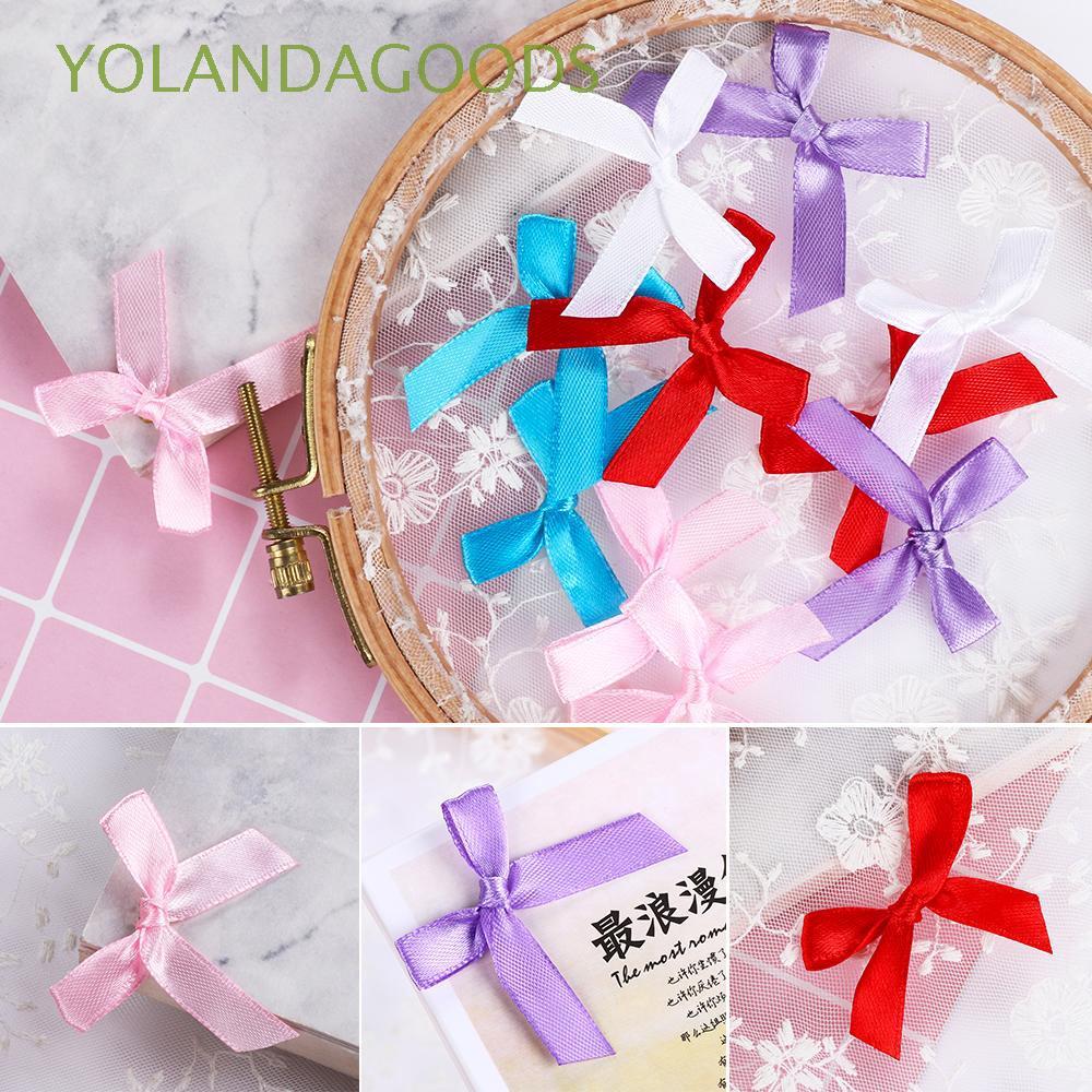 100pcs Satin Baby Girl Shower Applique//Trim//Favors//Bow//Craft Decor 3 Colors