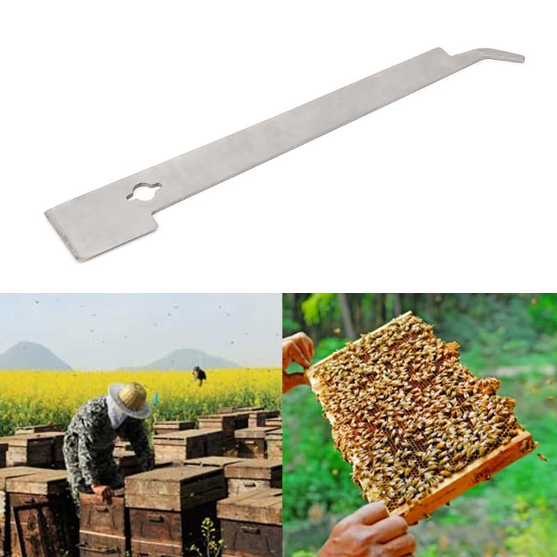 Stainless Steel Beekeeping Tool J Shaped Curved Tail Bee Hive Hook Scraper L