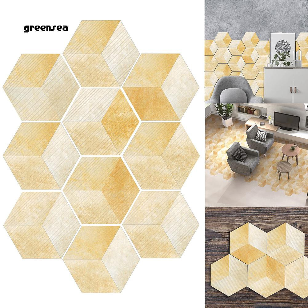 Hexagonal Tile Art Stickers Anti-Slip