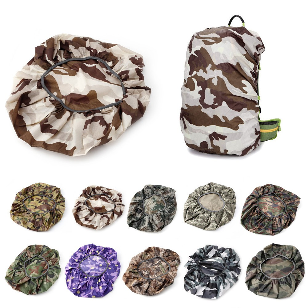 Camouflage Waterproof Dust Rain Backpack Cover Travel Camping Hiking Bag 20-45L