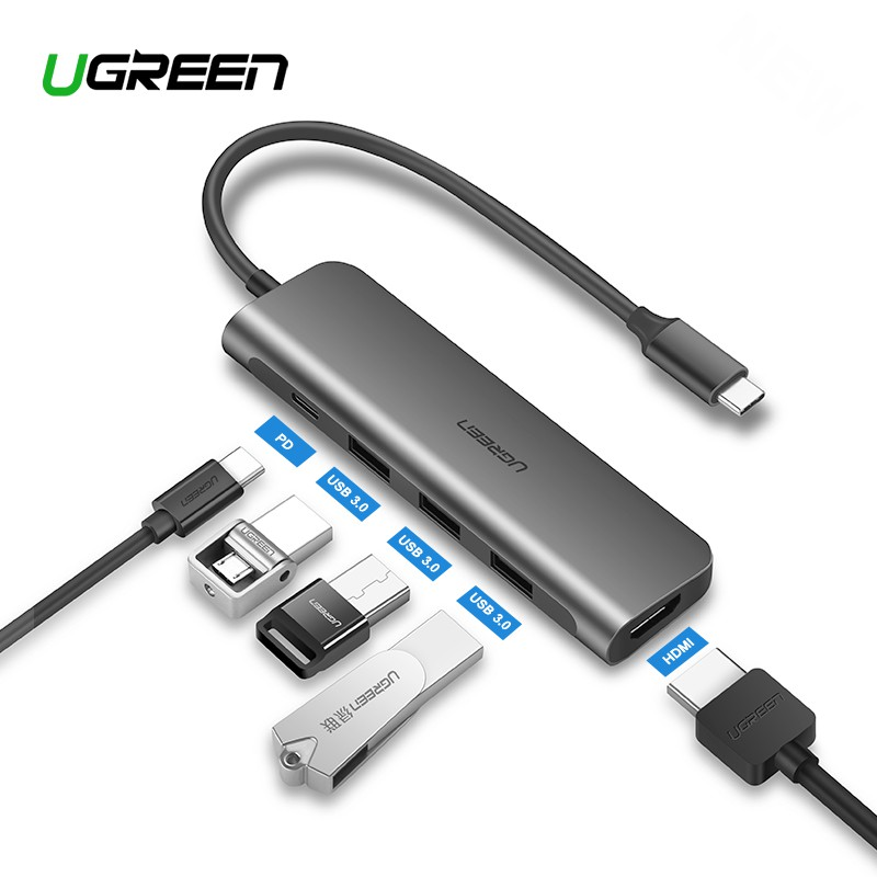 Docking Station Compatible with iPad Pro 2018 SD//Micro Card Reader 6-in-1 Aluminum Dongle Adapter with 4K HDMI 2019 USB 3.0 /& 3.5mm Headphone Jack Baseus iPad Pro USB C Hub USB-C PD Charging