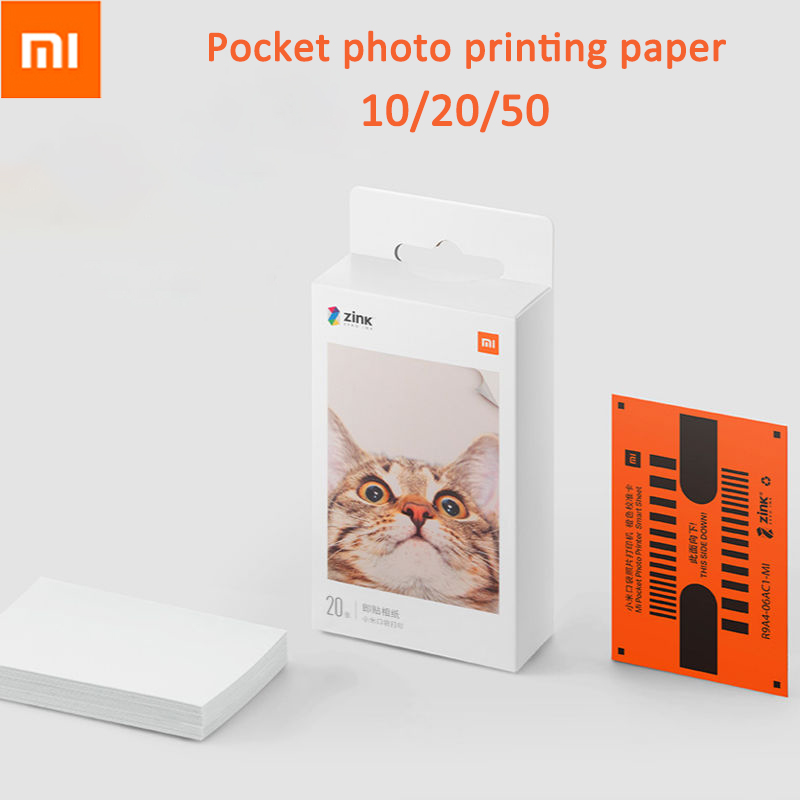 Xiaomi Mijia AR Printer Mi ZINK Pocket Printer Paper Self adhesive Photo Print Sheets For Xiaomi 3inch Mini Pocket Photo Printer
