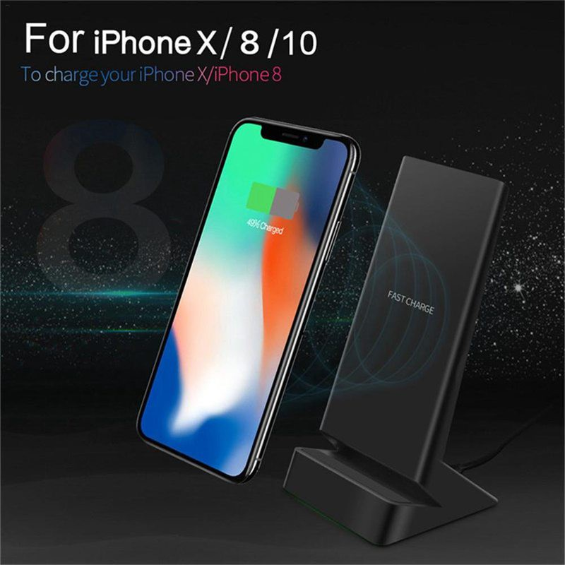 Galaxy S9//S9+ Remax Vinyl Fast Wireless Charger Ultra Slim Quick Charge Wireless Charging Pad Compatible for iP X S7//S7 Edge iP 8//8 Plus Note 8//S8//S8 Plus