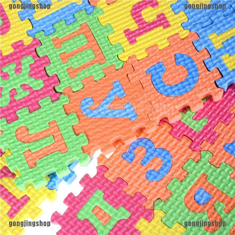 36pcs Russian Alphabet Letter Toys Kids Baby Puzzle Mats 55mm Numbers Learning D