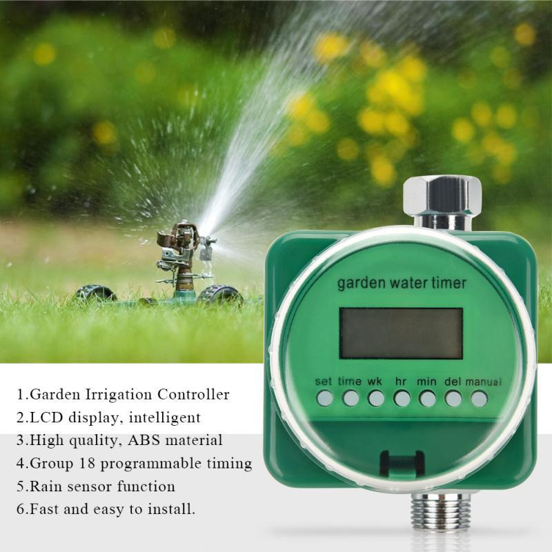 Smart Auto Watering Timer Irrigation Sprinkler Water Controller for Garden Lawn