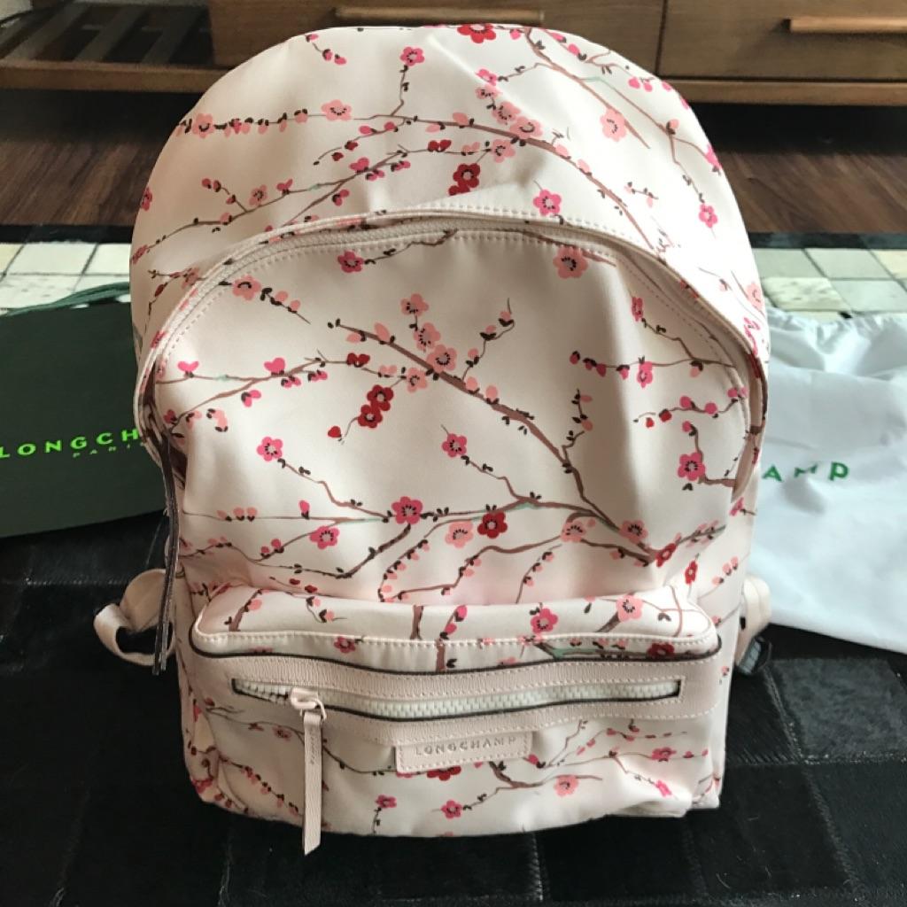 Longchamp Sakura Backpack 1119 Medium Size Pink Shopee Singapore Neo Ruby Sz Small