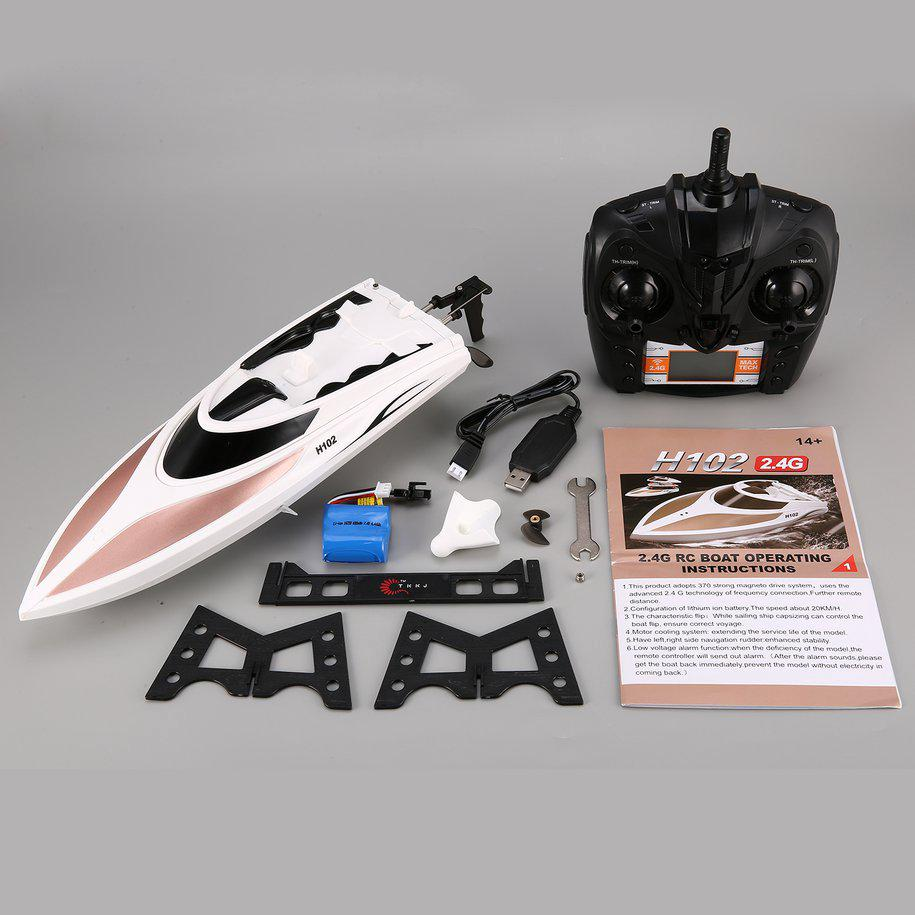 3313M F1 2 4GHz RC Boat High Speed Mini Racing Boat Rechargeable Speedboat