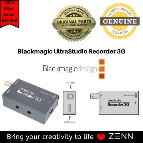 Blackmagic Ultrastudio Recorder 3g Shopee Singapore