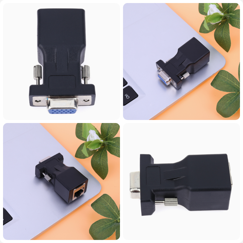 graroiC Charging Adapter Cable 1pc VGA Male to 2pcs VGA Female Y Splitter Cable with Double Magnet Rings