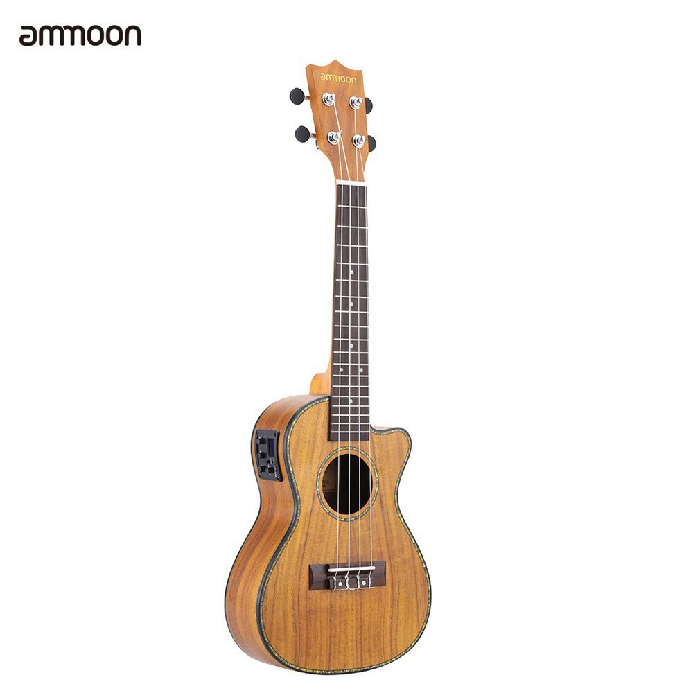 Ukulele Stringed Instruments Popular Brand Ammoon 24 Acoustic Wooden Soprano Ukulele Ukelele Uke 18 Frets 4 Strings Okoume Neck Rosewood Fingerboard Delicious In Taste