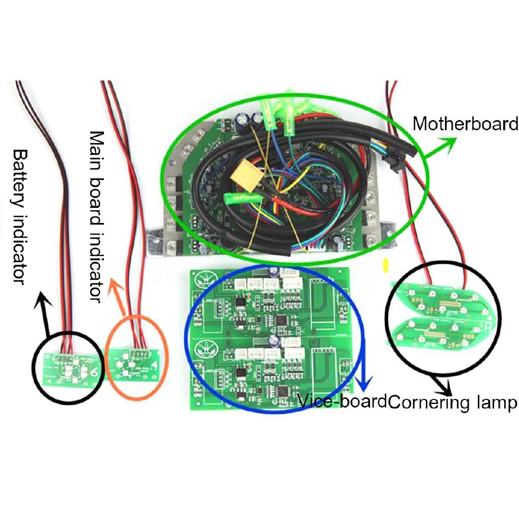 ღgb Hoverboard Parts Repair Kit Sweg Balance Board Gyro Pcb Leds