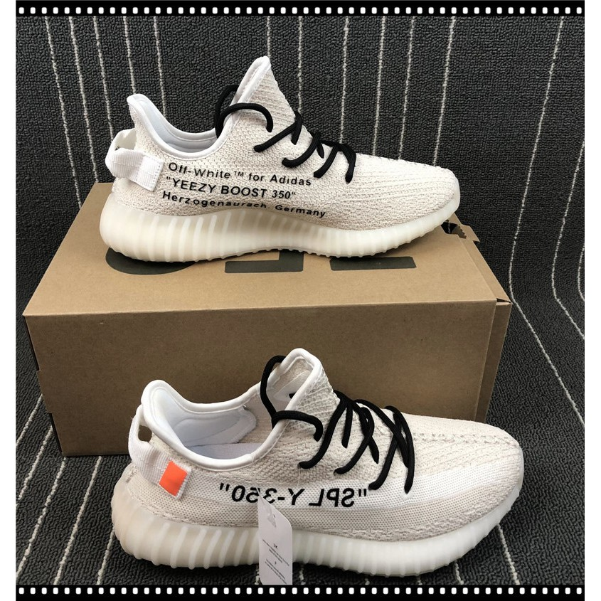 quality design 6dd58 36ee9 Adidas Yeezy Boost 350V2 x OFF-WHITE joint running shoes sneakers