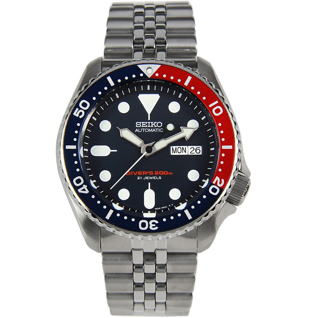 Seiko Automatic Divers Jubilee Stainless Steel Sports Watch SKX009 SKX009K2
