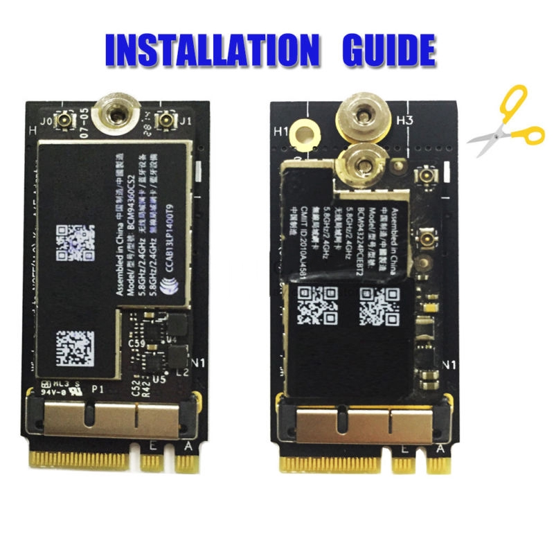 Quality BCM94360CS2 Card To NGFF(M 2)-Key A/E Adapter For